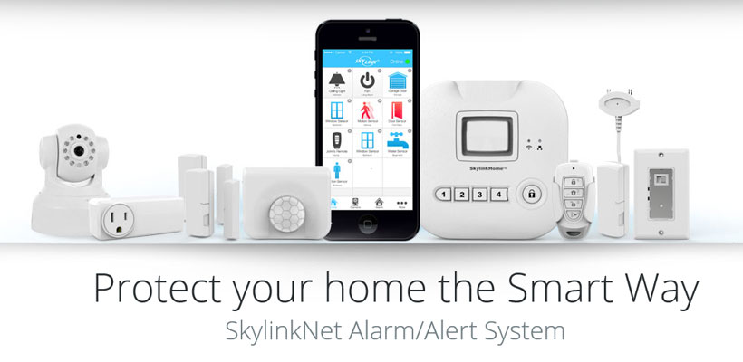 best smart home security skylinknet alarm system starter kit. Black Bedroom Furniture Sets. Home Design Ideas